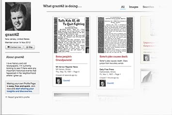 Profile page on The Post-Crescent Archive